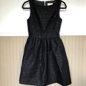 KATE SPADE Tweed Fit & Flare Dress W/ Sequins